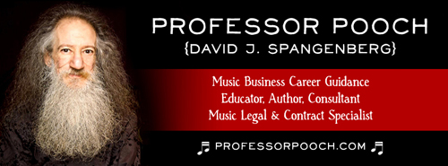 Professor Pooch Music Business Education banner